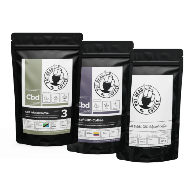 CBD Coffee Discovery Pack by Pot Head Coffee