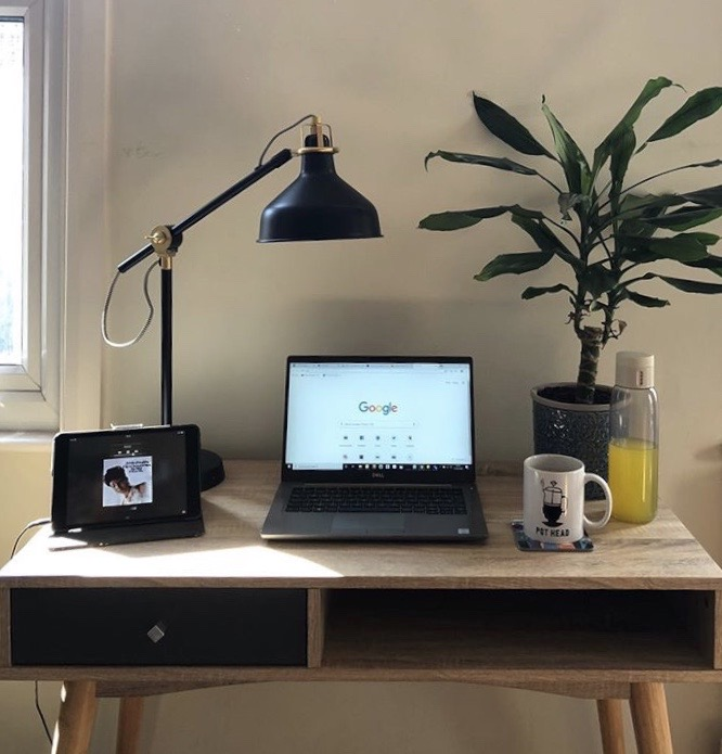 CBD Coffee at Home Office